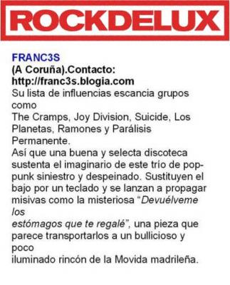 FRANC3S EN ROCKDELUX  Junio 2007