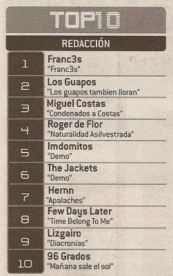 somos los 1º en el top 10 de la mondosonoro de octubre